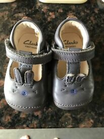 Clark's first shoes size 2G