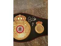 BOXING BELT HAND SIGNED BY FLOYD MAYWEATHER JR, WITH COA