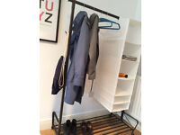 IKEA Portis clothes rail and hanging storage, great condition!
