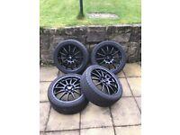 "Audi A1 Alloy wheelsTeam Dynamics 17"" Satin Black Wheels and Continental Tyres"