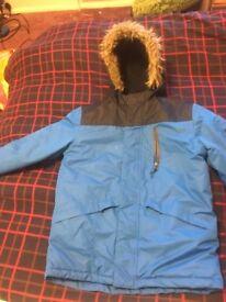 Boys blue parka jacket coat 10-11