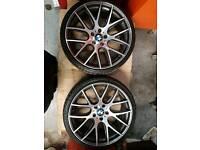 BMW M3 style 20 inch wheels.