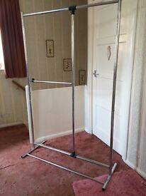 Stainless Steel clothes rail - good condition