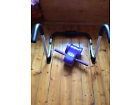Home Gym Abs trainer with headrest and wheel for a perfect toned abdomen.