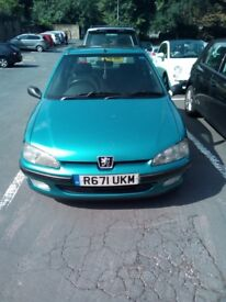 Limited edition Classic Peugeot 106 manual, green, low mileage, excellent condition, sunroof