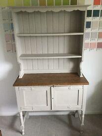Beautiful vintage oak dresser - painted in light grey Annie Sloan chalk paint