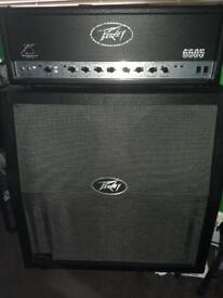 Peavy 120w 6505 Head and Peavy Valve King cab and Footswitch