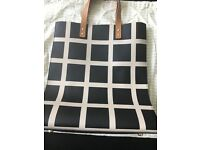 Orla Kiely 'Willow' black check handbag