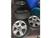 Mini cooper 17 inch bullet alloys