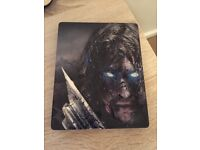PS4 Shadow Of Mordor steel case limited edition