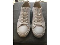 Converse All Star White Leather size 6