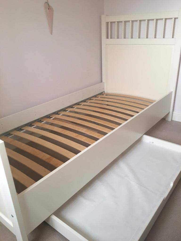 Ikea Hemnes Single Bed With Noga Under Storage Drawer