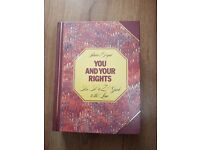 LAW BOOK YOU AND YOUR RIGHTS A-Z GUIDE TO THE LAW £10ono