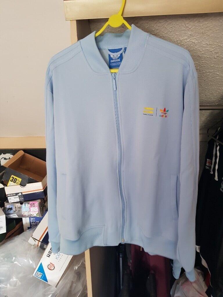 Mens XL Adidas Originals X Pharrell Williams Mens Supercolour Track Jacket Clear Sky £25 ONO   in Bedminster, Bristol   Gumtree