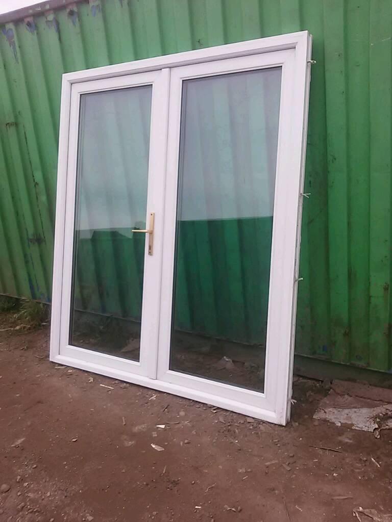 Large French Upvc Doors Summerhouse Mancave Double Glazed