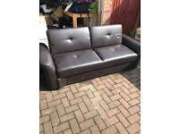 Black fold down sofa bed