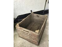 Antique wooden grocery box, 53cm long, 37cm wide, 28cm high.