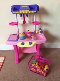 Child's toy kitchen