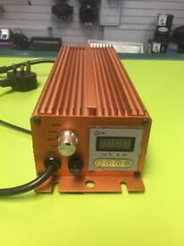 Used Hydroponics sun pro century 600w digital dimmable ballast with built in timerhps/mh