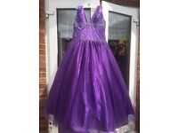 Size 16 - Purple puffy Dress - Yasmine