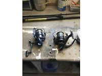 12ft match rod and two reels,carbon composite