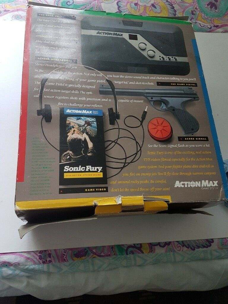 Retro Vintage ACTION MAX 1987 The First Real Games Console NEW Worlds of Wonder