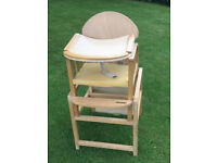 Wooden High Chair/Table combo by Recaro