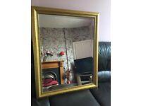 Large gold vintage antique style mirror