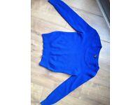 Jaeger electric blue wool jumper size 8 women
