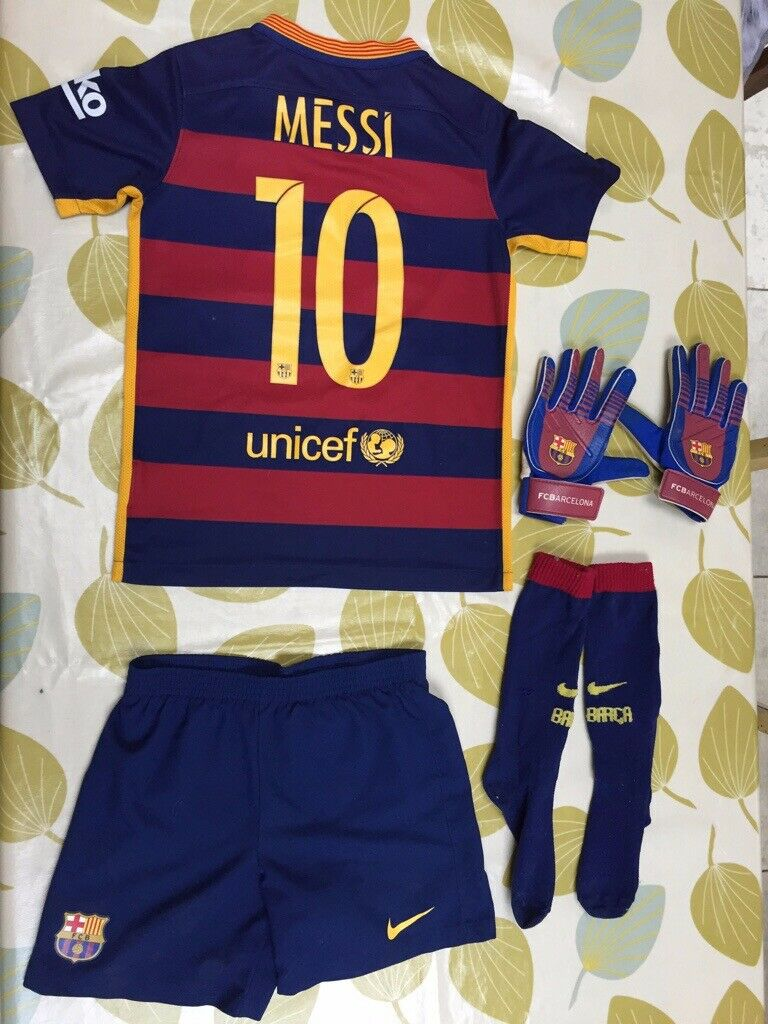 check out 0f1c4 9fc85 Kids Barcelona (Messi) Football Kit | in Brighton, East Sussex | Gumtree