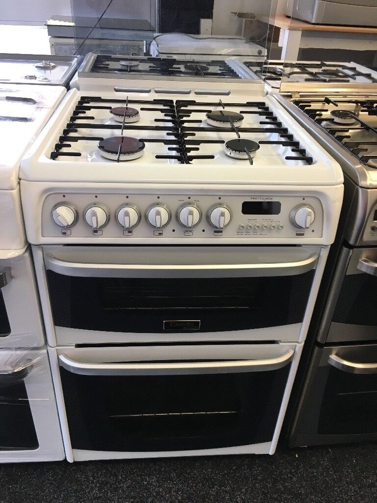 CANNON 60CM ALL GAS COOKER WITH LID IN WHITE