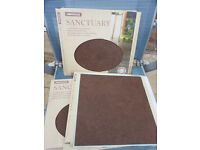 27 BRAND NEW HOMEBASE SANCTUARY VINYL SELF ADHESIVE FLOOR TILES IDEAL FOR SMALL SPACE