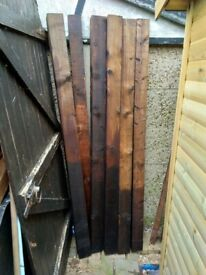 Fence Posts 6ft . Ready Treated Six in Total.
