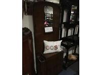 Splendid Vintage Retro Lebus Wooden Coat & Hat/Umbrella Cupboard Hallway Stand