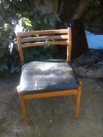 Single Retro Teak Dining Chair