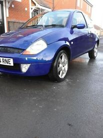 Ford ka sport 1.6i 16v with induction kit in metallic Blue with mot and lots of work done to it