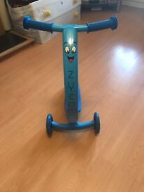 Blue Zycom Zipster Scooter with light up wheels