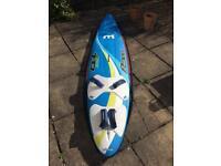 Mistral Flow 120 windsurf board and dagger board.