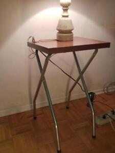 Rare Mid-Century Projection Table MINT Solid Metal Works great Makes great Charging Table Retro MCM Vintage