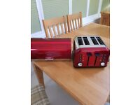 Toaster and bread bin for sale