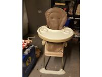 Cocoa High Chair with detachable tray - Ex-Mothercare