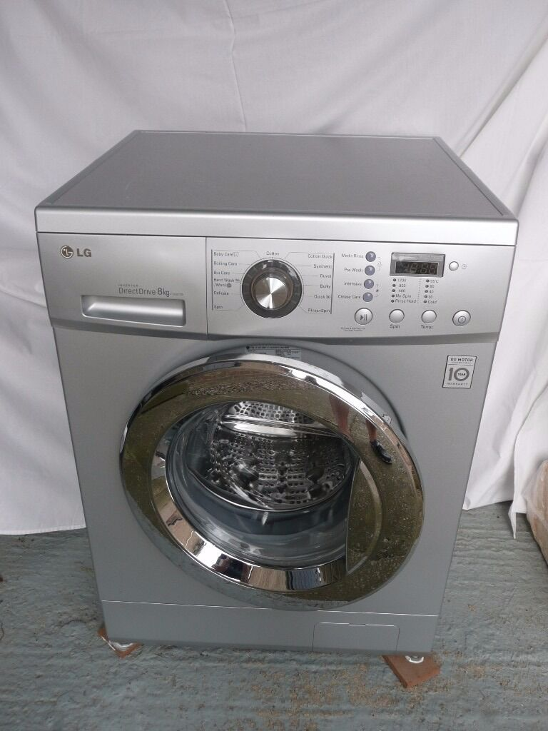 LG automatic washing machine, silver (model no F1222TD 5in Sheffield, South YorkshireGumtree - LG F1222TD 5 automatic washing machine in silver. 8kg load capacity with direct drive invertor motor. In good condition and fully operational with owners manual / operating instructions in good condition. May be able to deliver locally. Text or call...