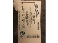 1 x Placebo standing ticket . 02 Academy Brixton . 23/10/17