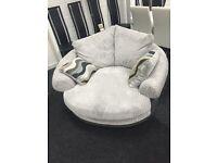 Grey lullabye swivel chair