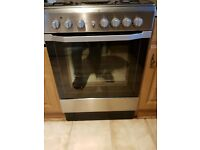 Indesit I6G52 Single Oven Dual Fuel Cooker - Stainless Steel