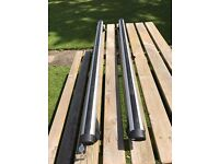 Pair of Thule Aero 869 roof bars fitted Audi A6 Avant SE 2007 model and will fit other vehicles