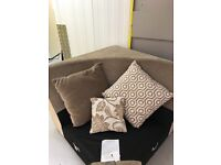 Large Corner Sofa with Foot Stall