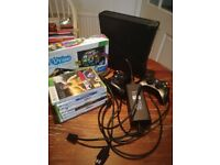 Xbox 360 - includes 2 Controllers and 8 Games