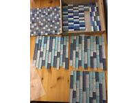 Assorted glass mosaic tiles - craft project