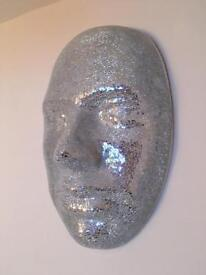 Large mosaic mirrored face
